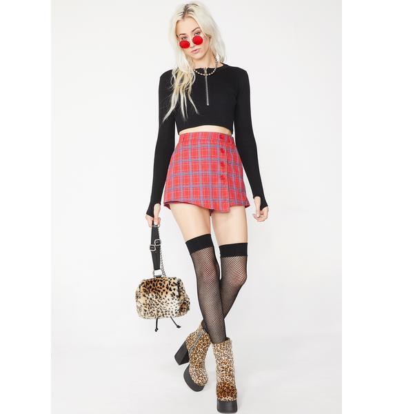 Body For Sin Plaid Skirt