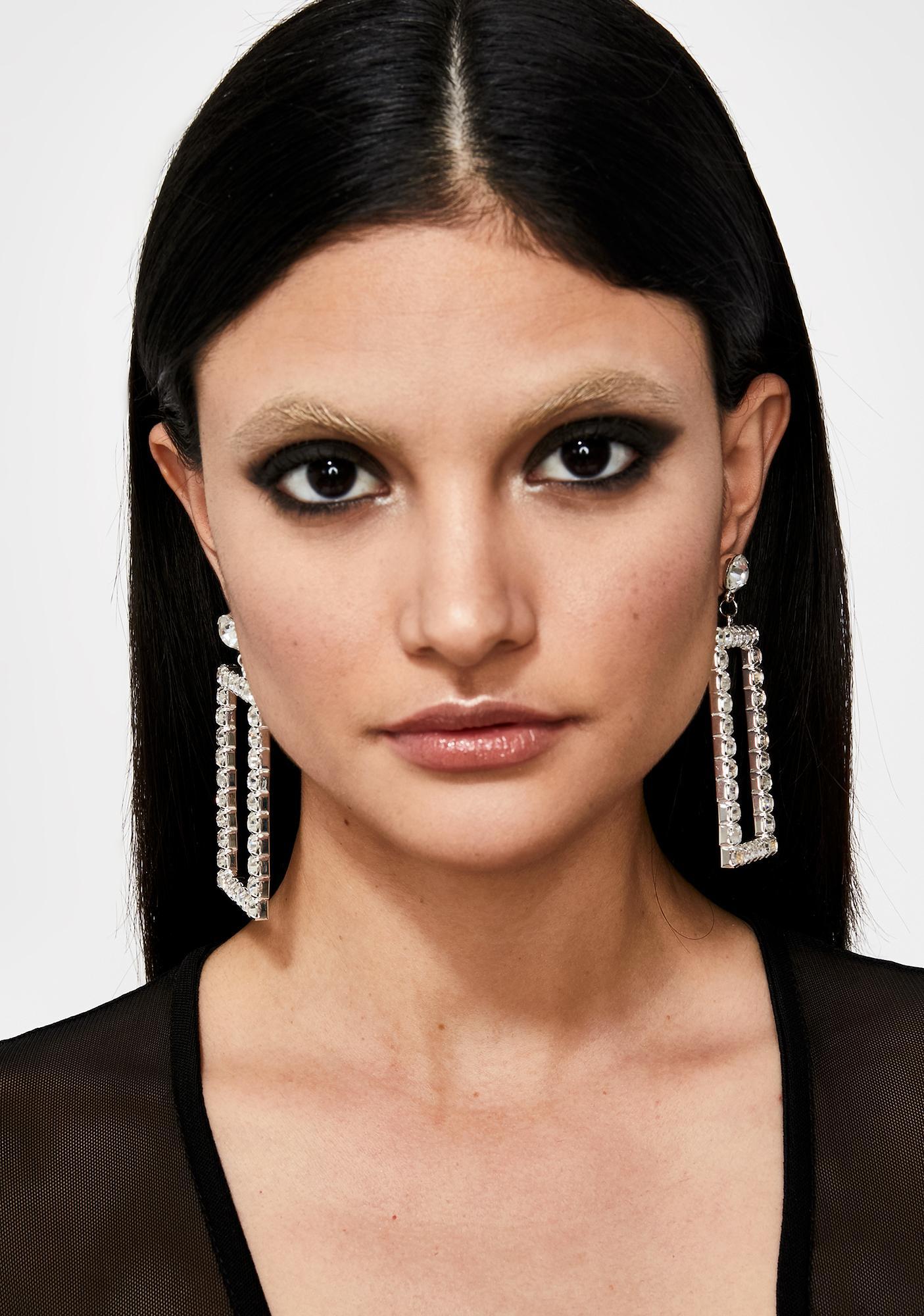 Take A Pic Rhinestone Earrings