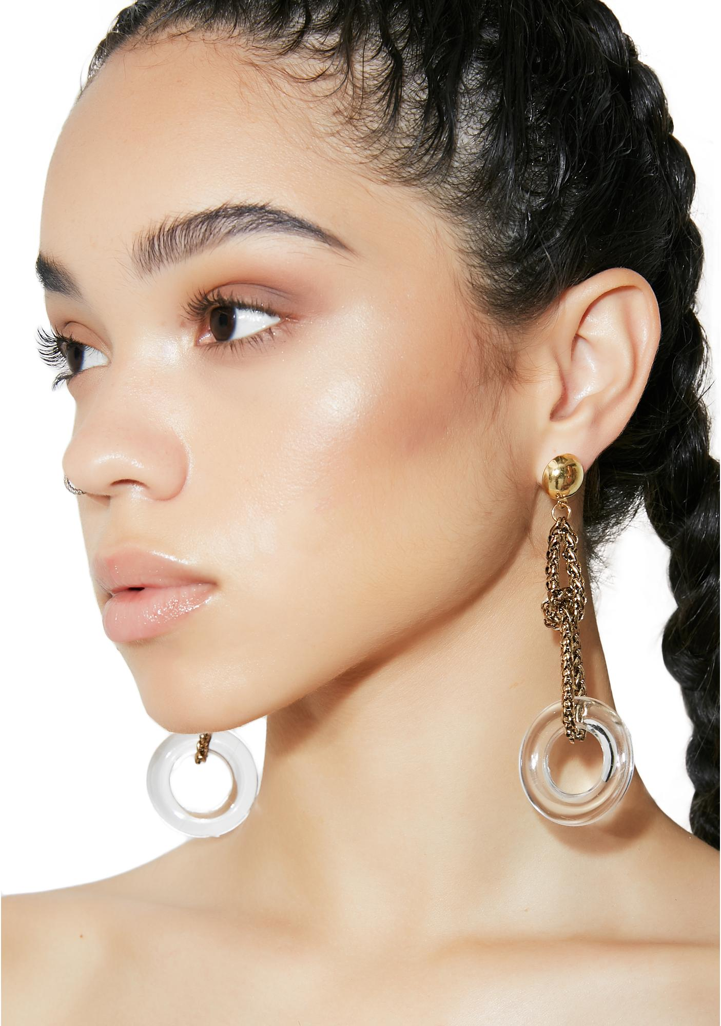 Wild Out Chain Drop Earrings