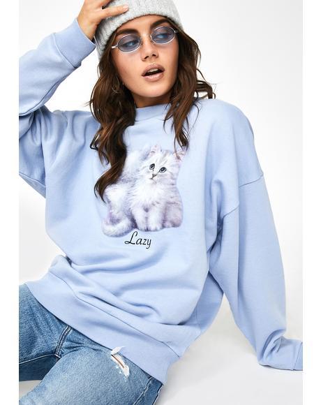 First Date Graphic Sweatshirt
