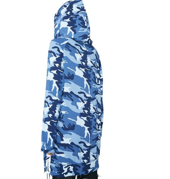 Blueberry Hide Behind Me Hoodie Dress