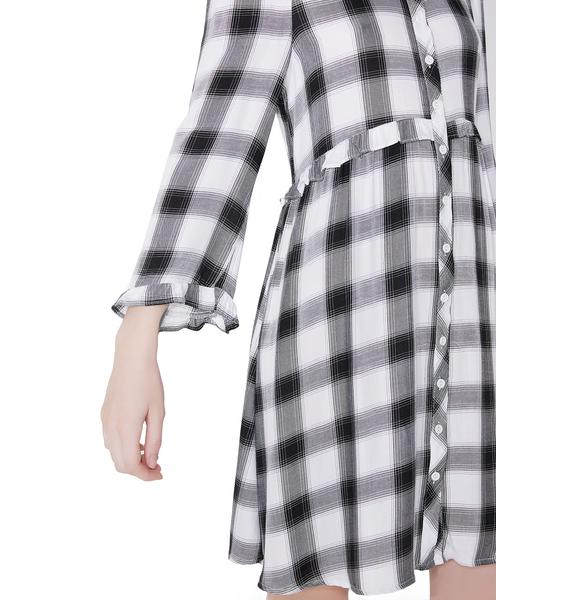 Glamorous Honor Roll Button Up Dress
