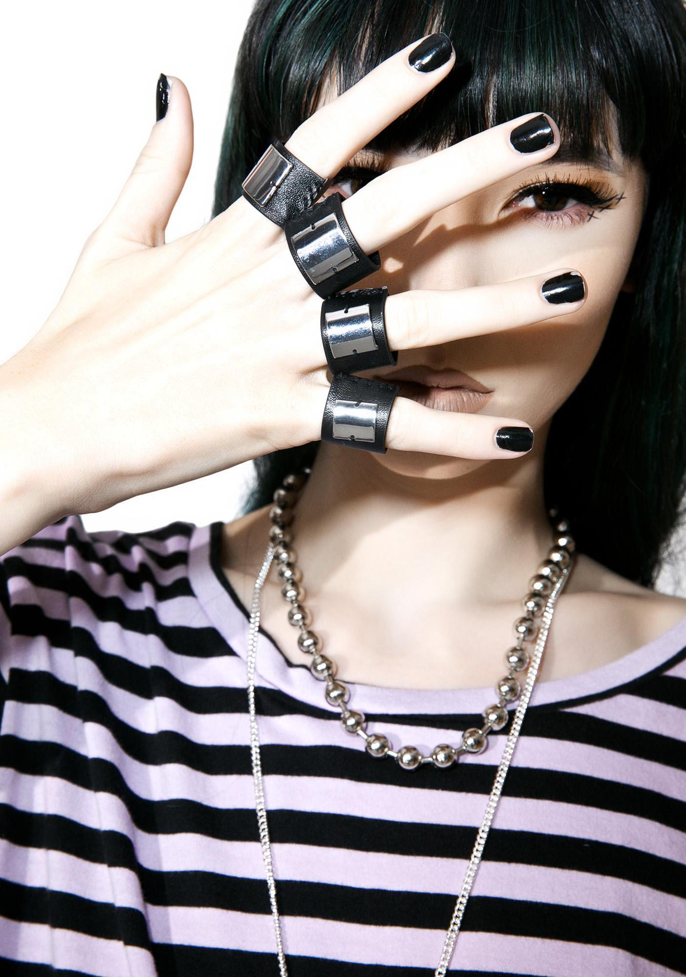 Cheap Monday Leatherette Fingerless Ring