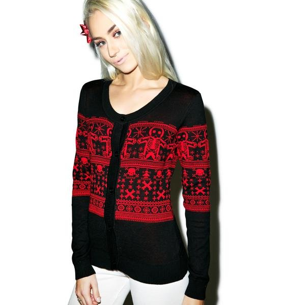 Sourpuss Clothing Gingerbread Cardigan