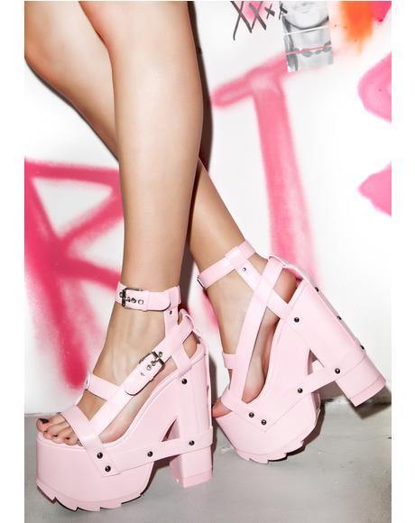 Pink Nightcall Platform Heels