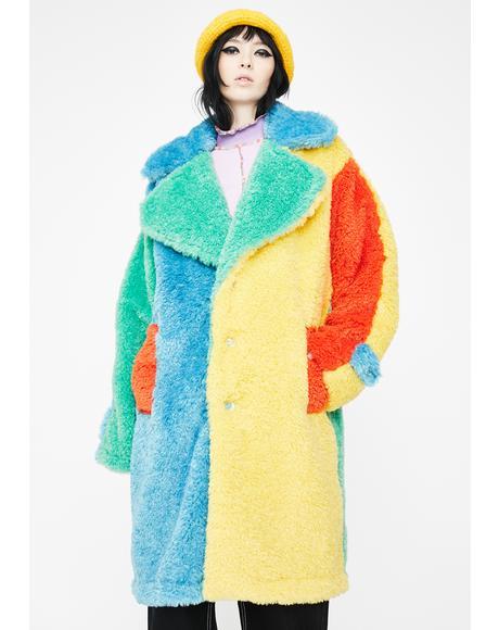 Candy Fluff Longline Coat