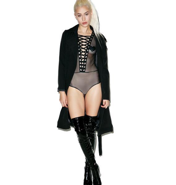 Money Maker Lace-Up Bodysuit