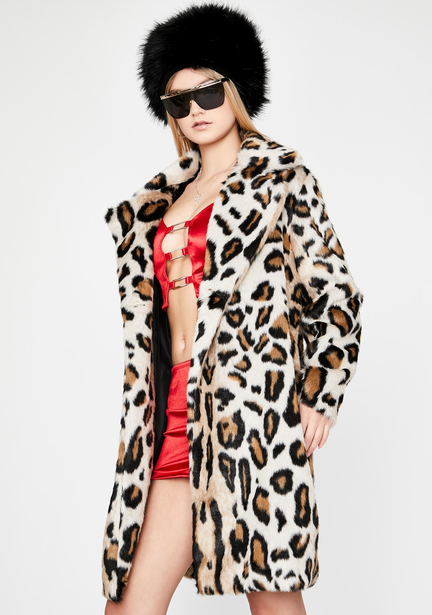 Catastrophic Diva Faux Fur Coat