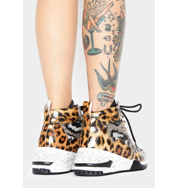 Savage Glamour On High Platform Sneakers