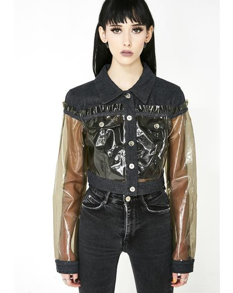 Life In Plastic Cropped Jacket