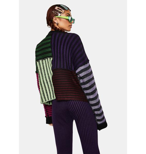The Ragged Priest Klutz Striped Knit Sweater