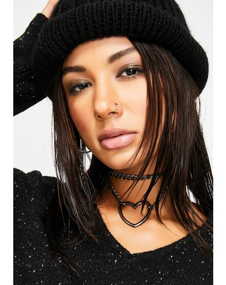 Breakin' Hearts Chain Choker
