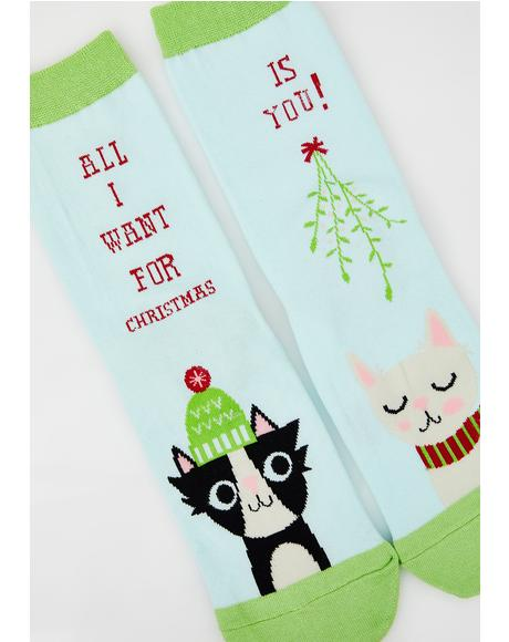 Under The Mistletoe Socks