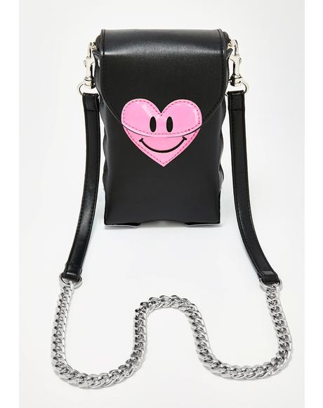 Love Emoticon Crossbody Bag