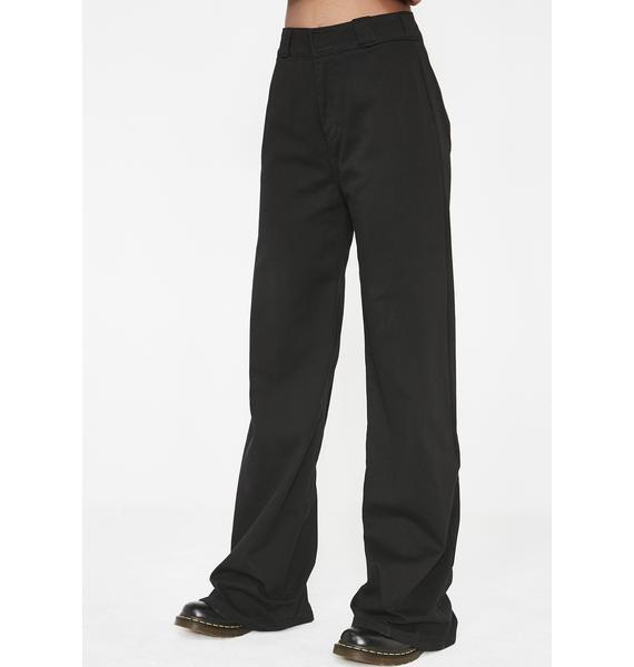 Dickies Girl Onyx Worker Wide Leg Pants
