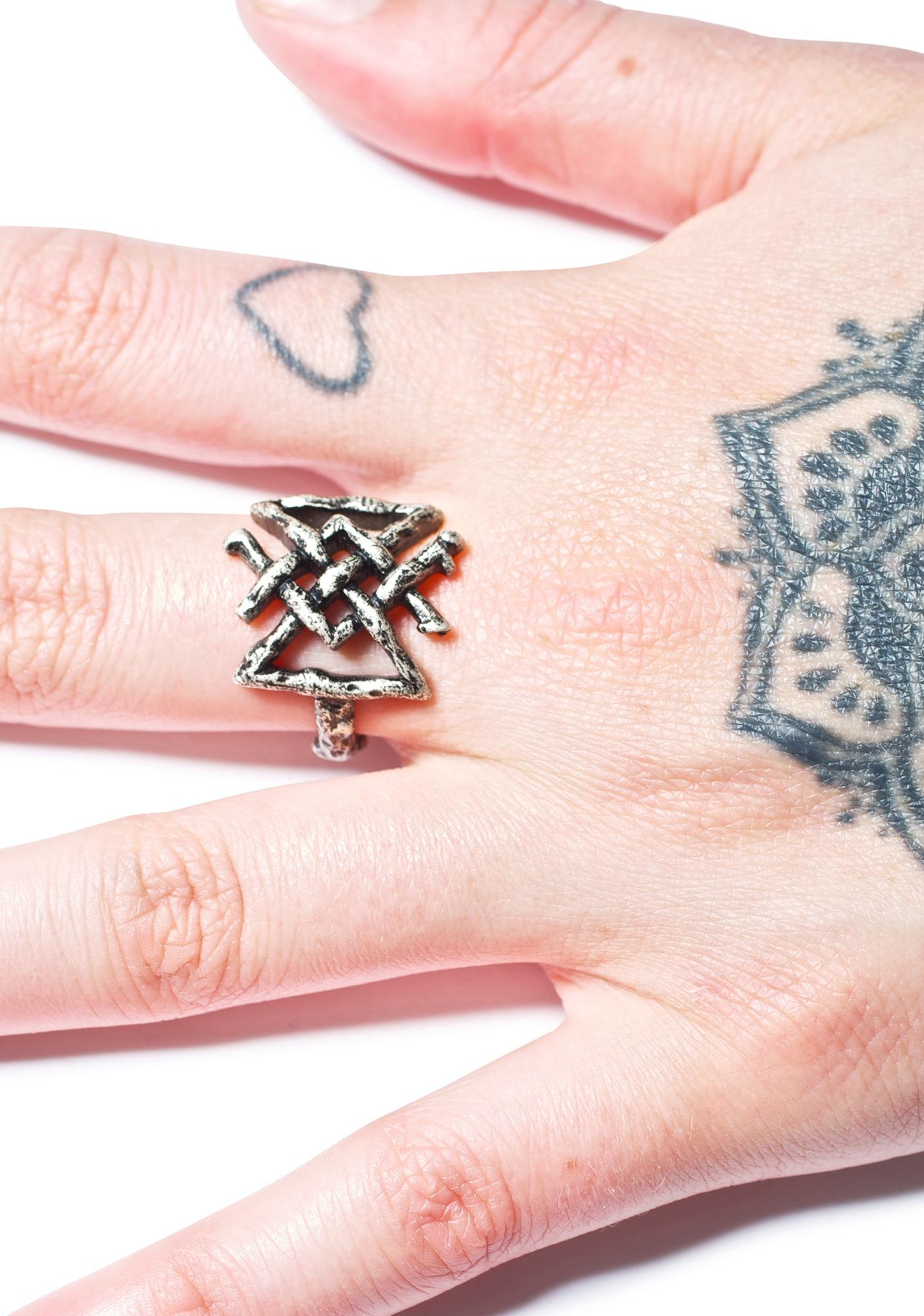 Disturbia Longevity Rune Ring | Dolls Kill