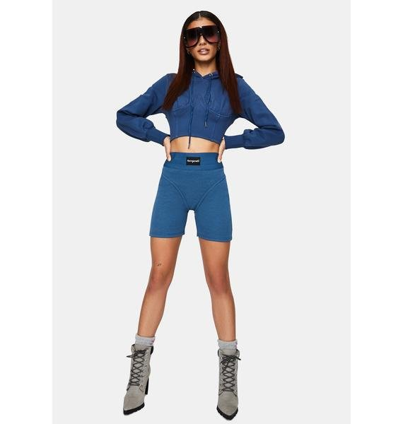 Serpenti The Cobalt Cropped Hoodie