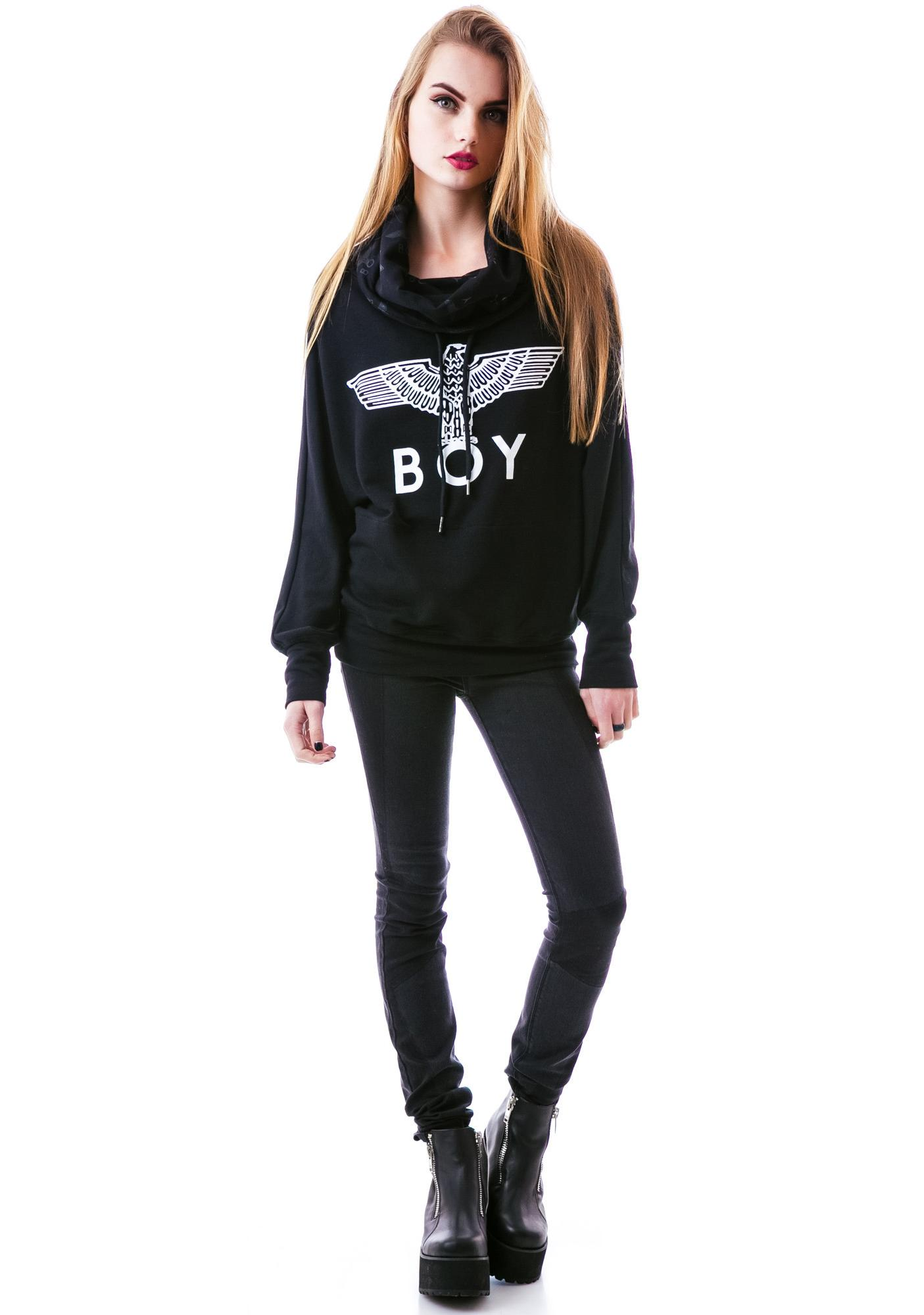 BOY London Eagle BOY Batwing Turtleneck Sweater