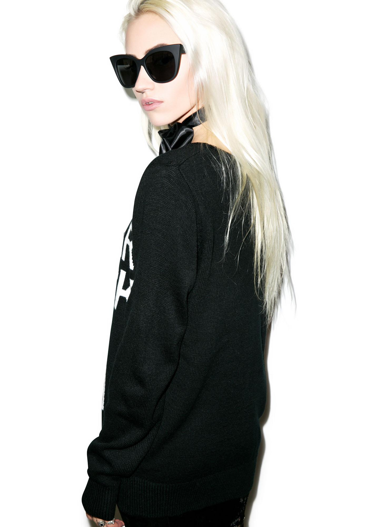 Killstar Pizza Knit Sweater