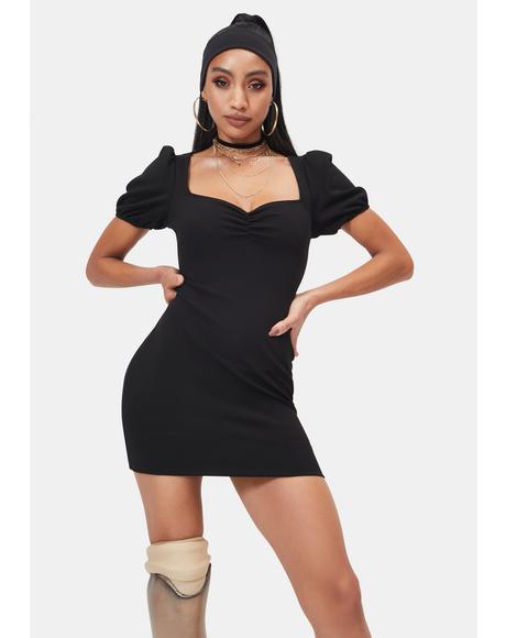Into the Cosmos Short Sleeve Sweetheart Mini Dress