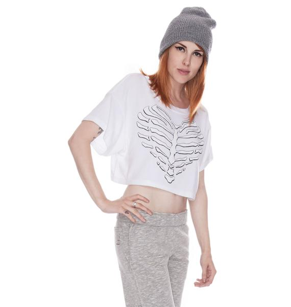 Wildfox Couture Valley Girls Skeleton Heart Beach Tee