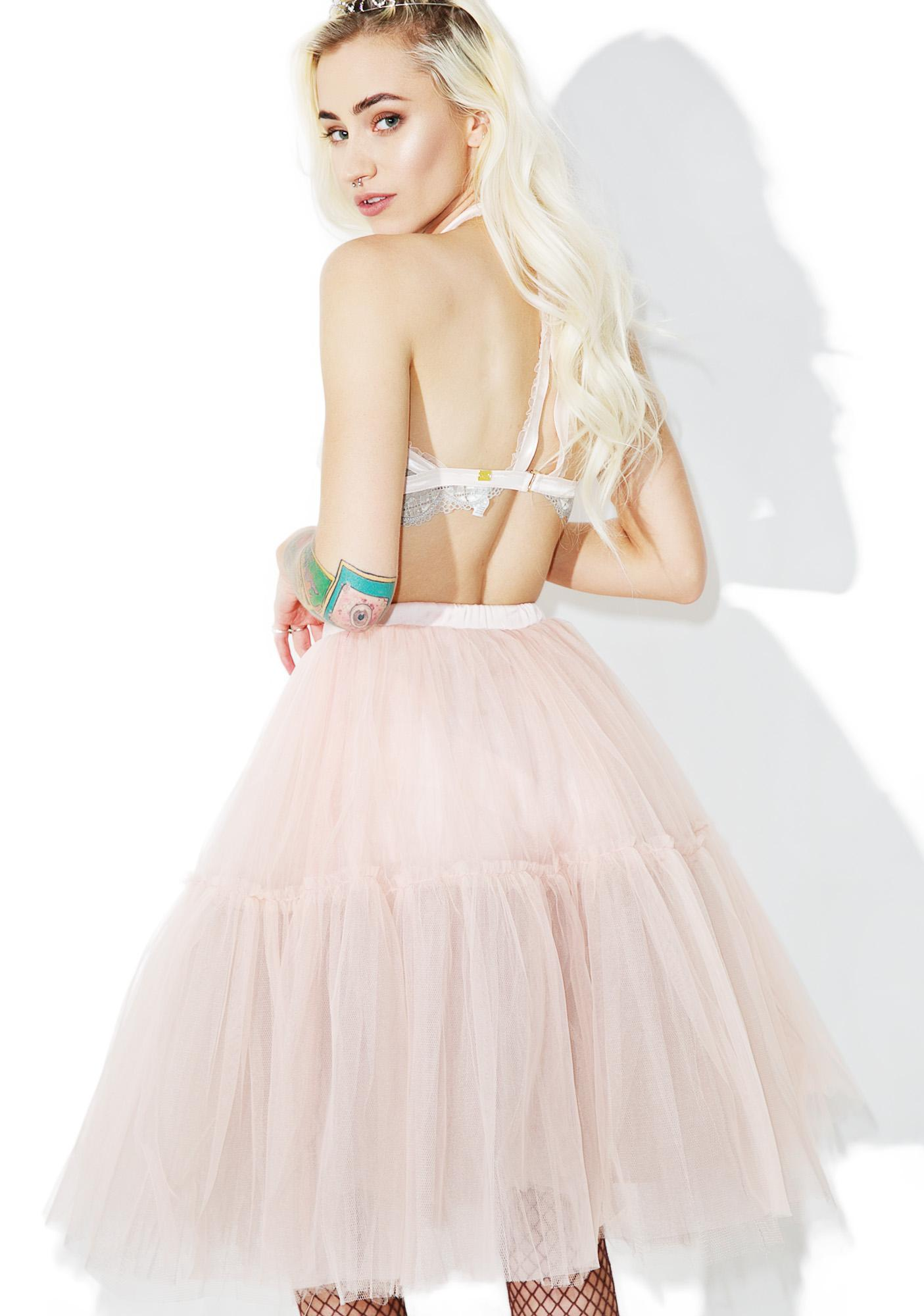 Glamorous Palatial Sheer Tulle Skirt