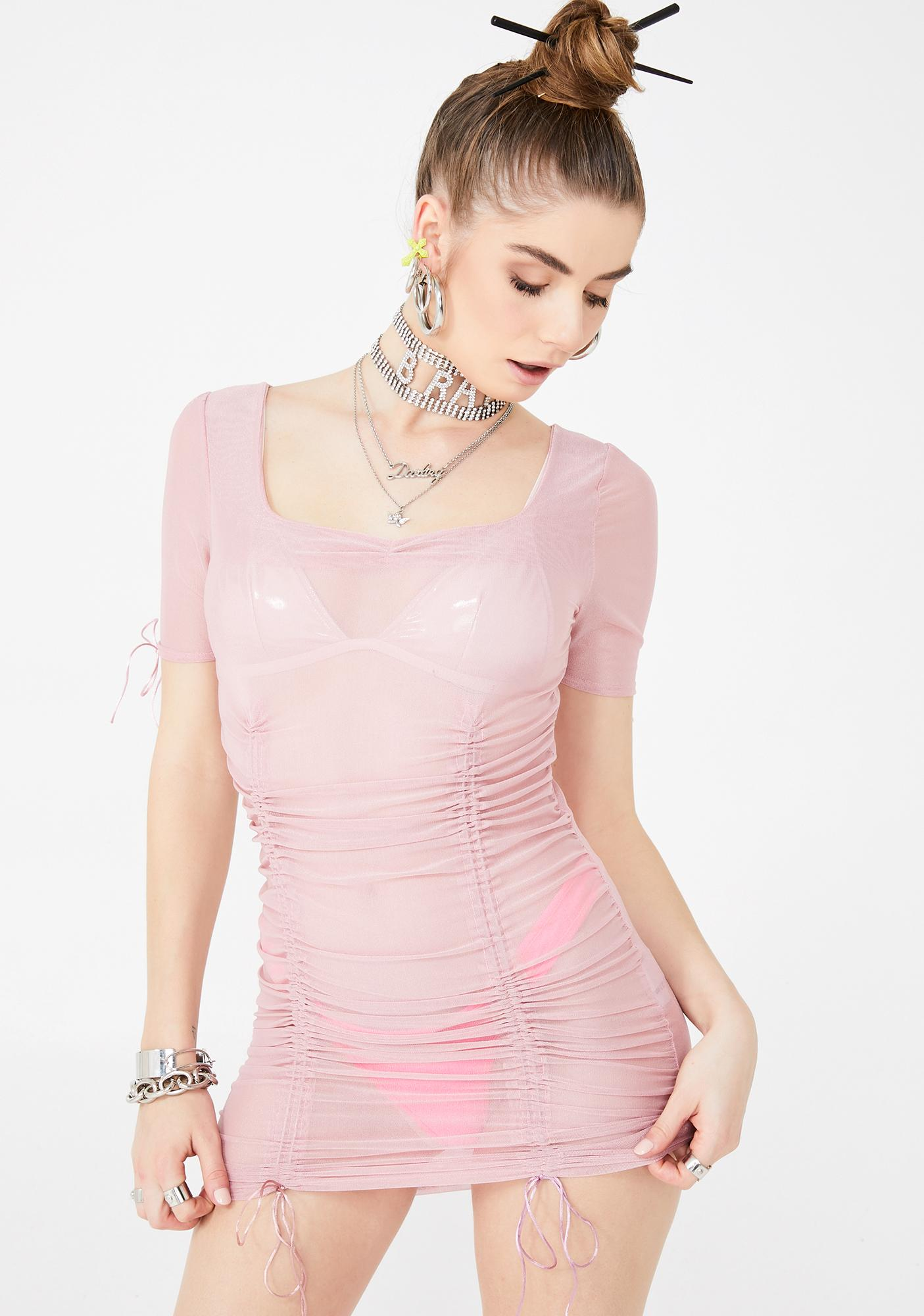 ZEMETA Ribbon Sweet Mini Dress