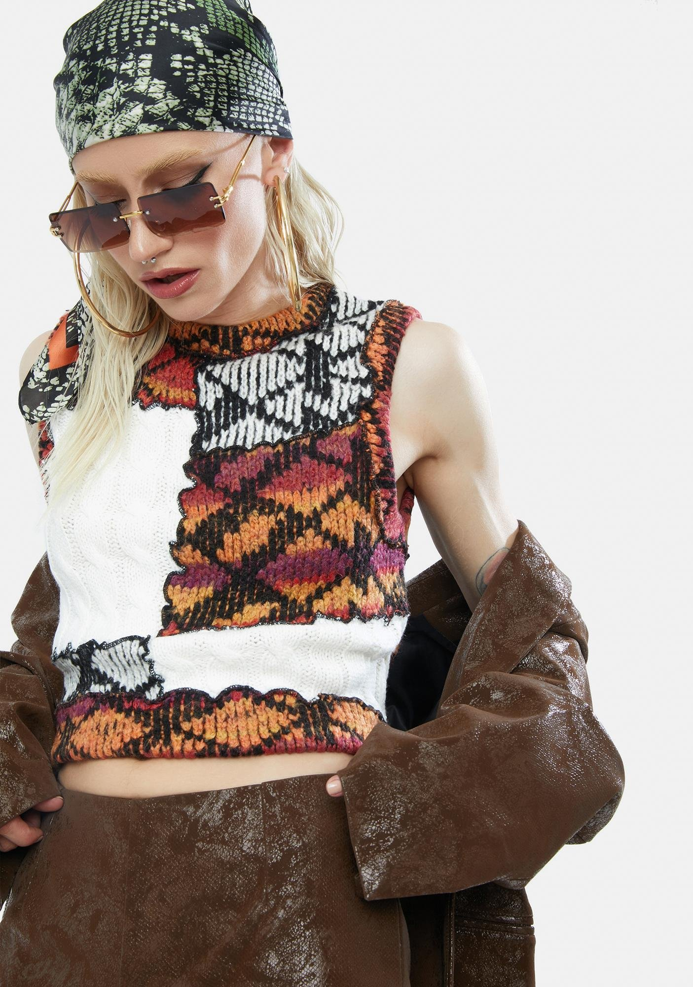 Jaded London Cut And Sew Knitted Vest