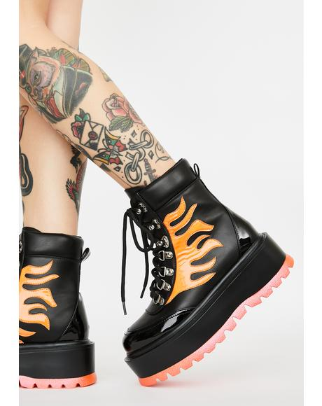 Helios Flame Combat Boots