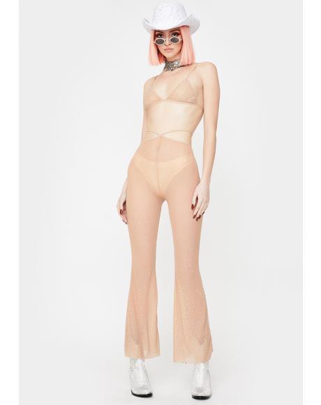 Nude Wild Wonder Rhinestone Mesh Set