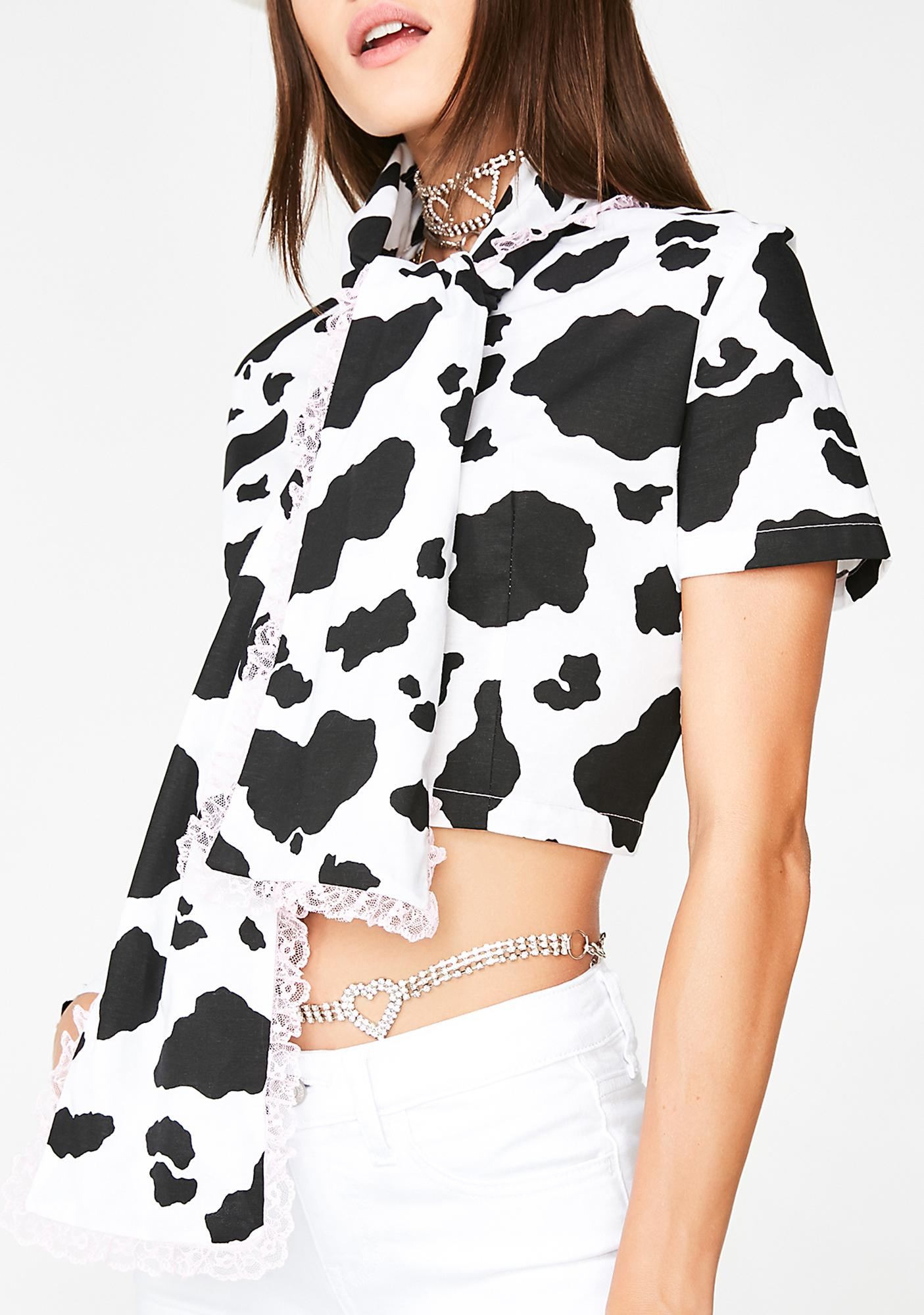 CheekLDN Holy Cow! Bow Shirt