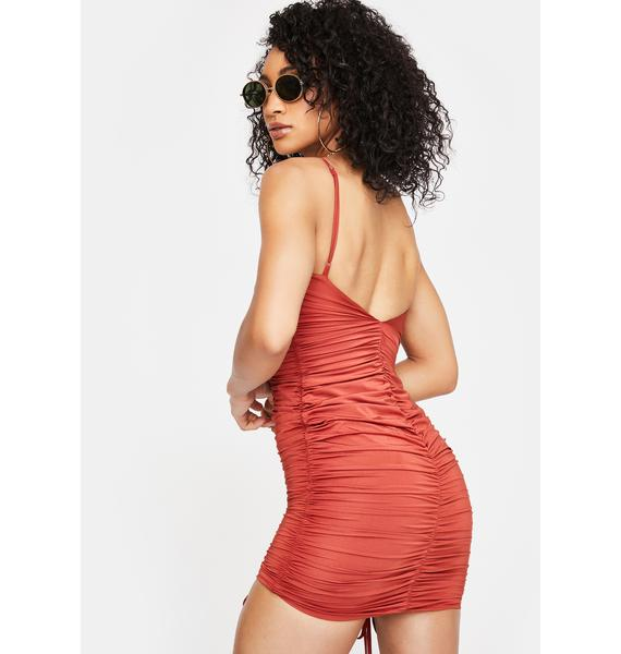 Tiger Mist Rust Zion Mini Dress