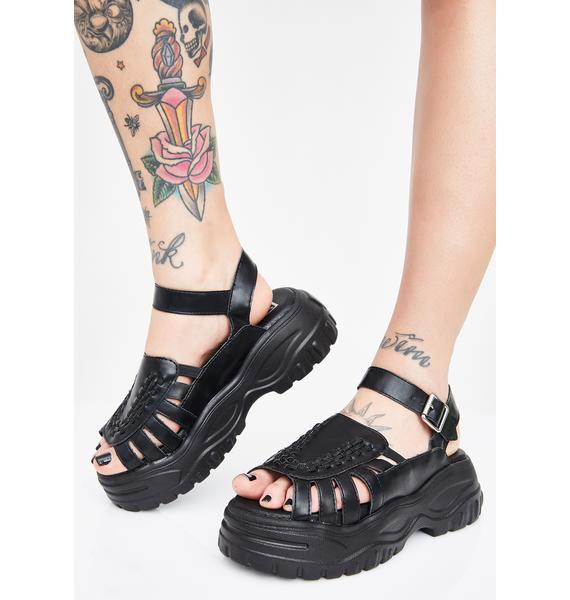 T.U.K. Midnight Wave Platform Creeper Sandal