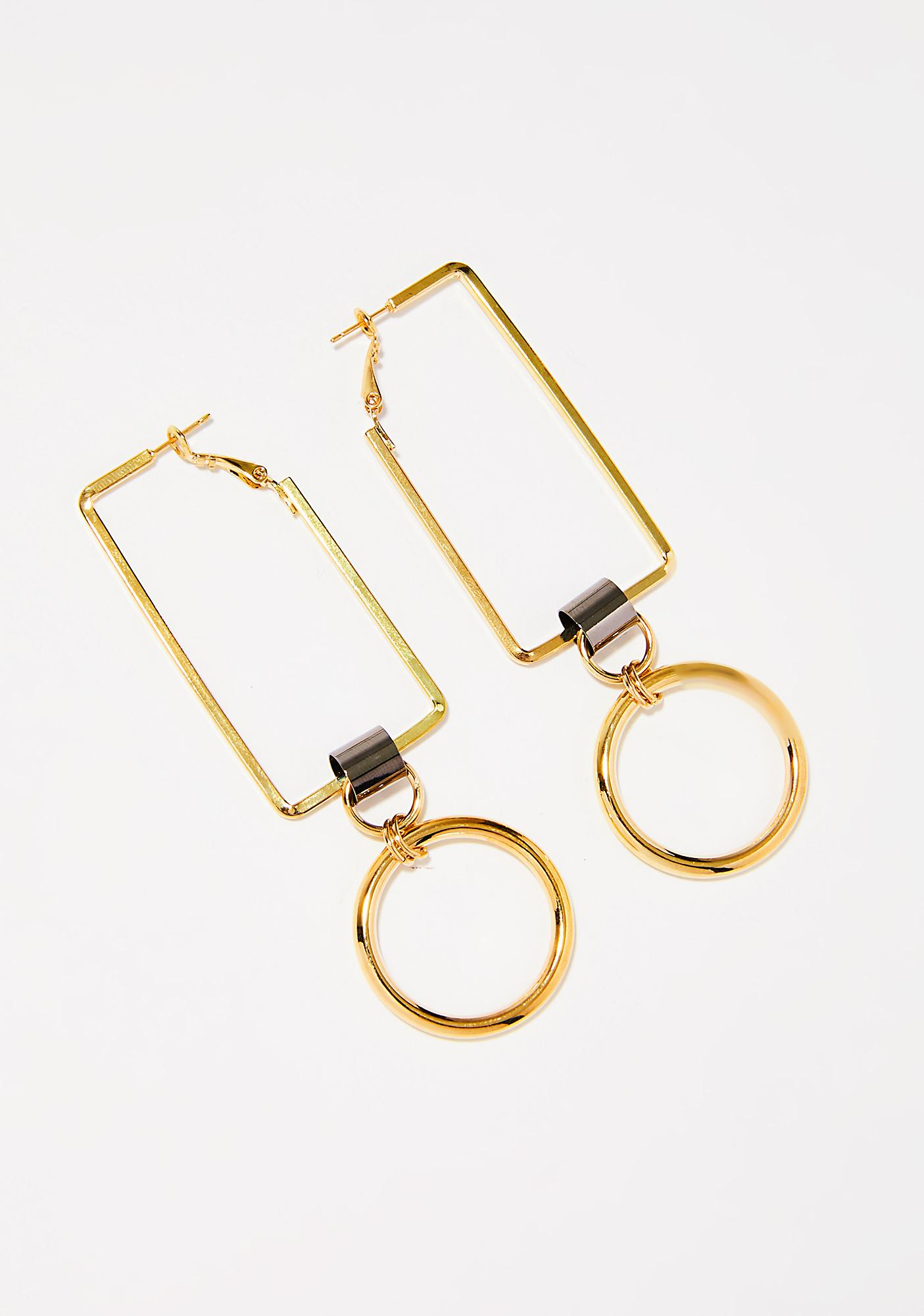 Golden Ratio Geometric Earrings