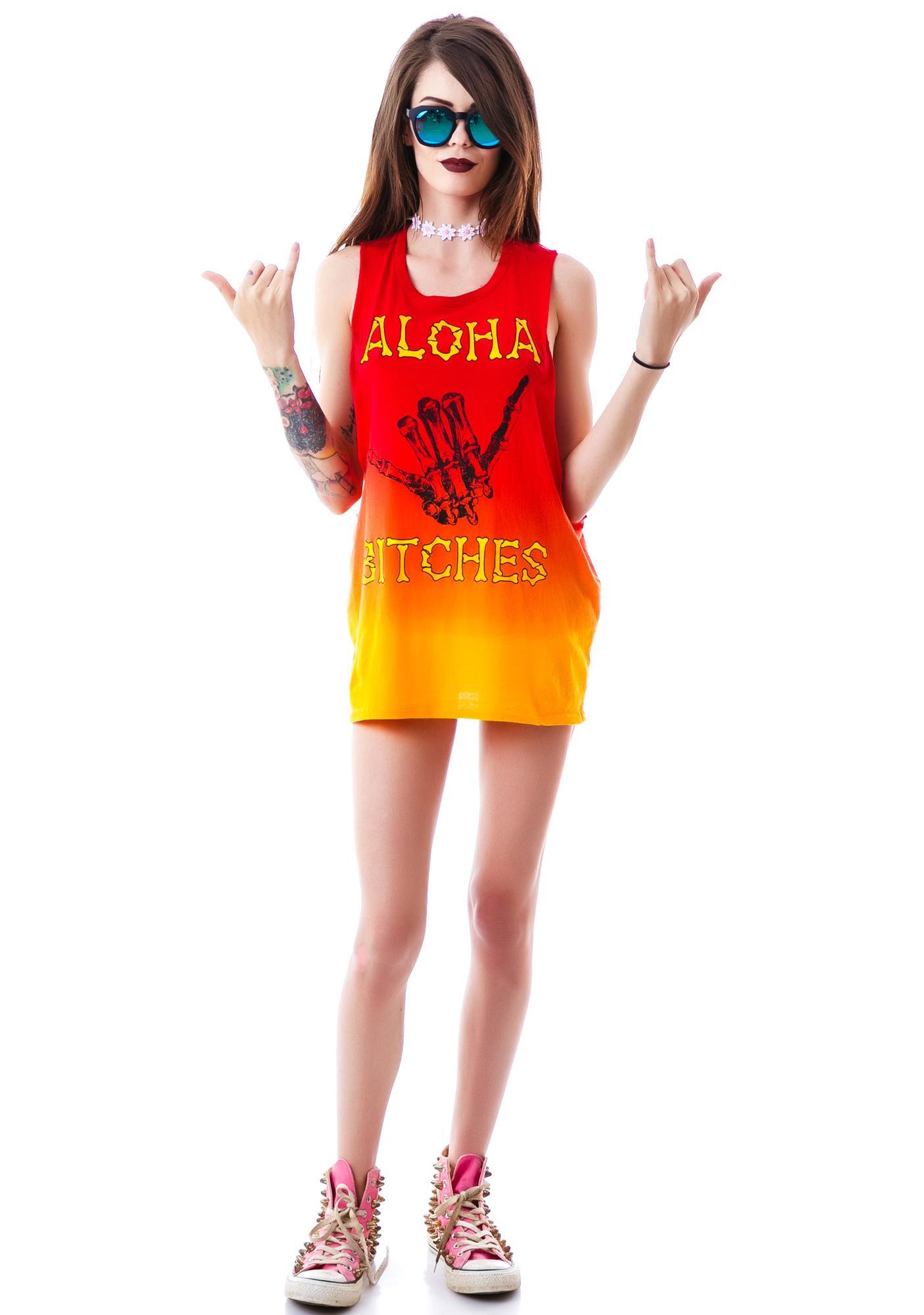 Iron Fist Aloha Bitches Muscle Tank