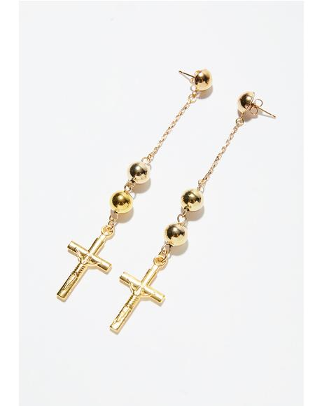 The Faith Cross Earrings