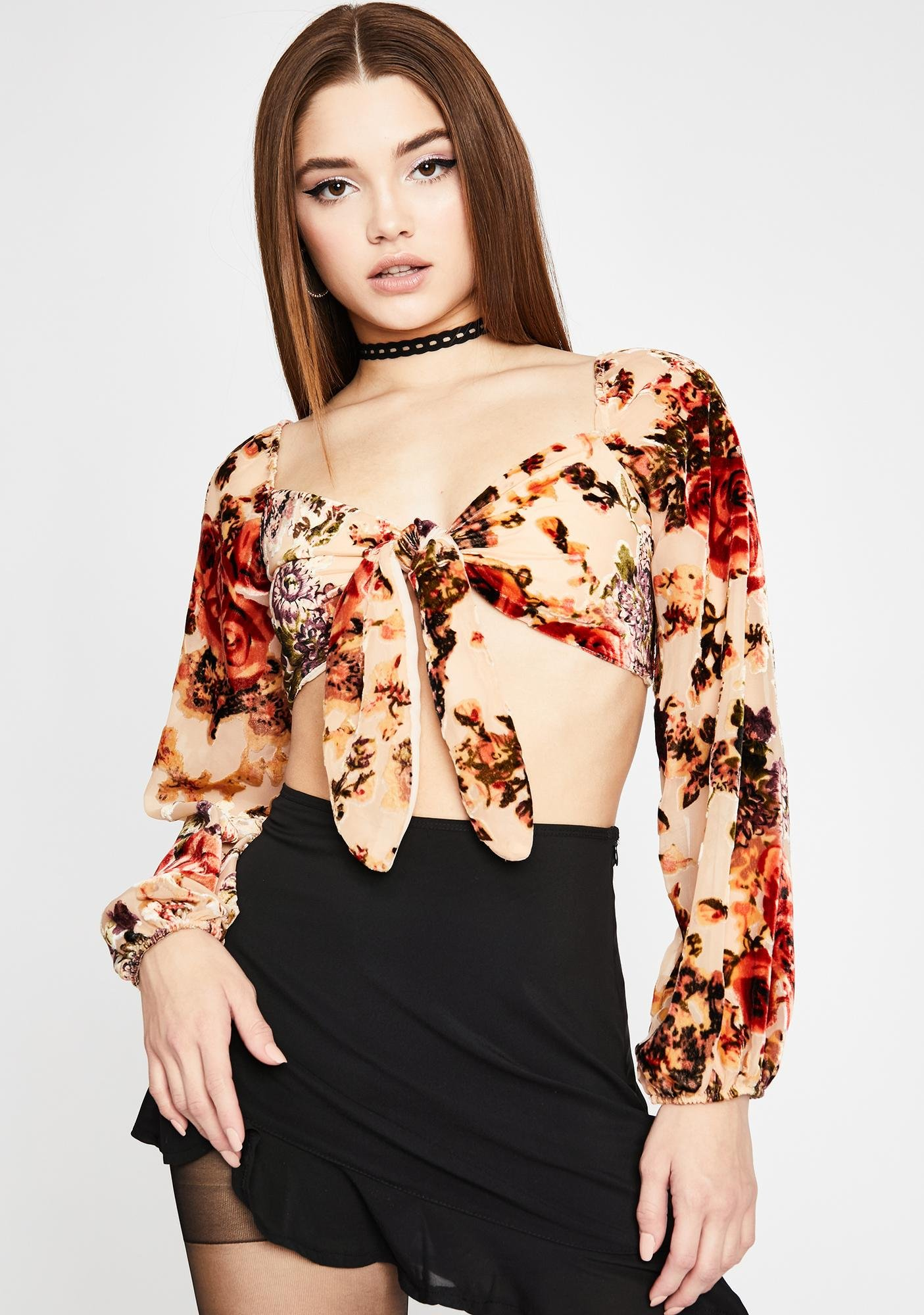 Garden Of Love Tie Crop Top