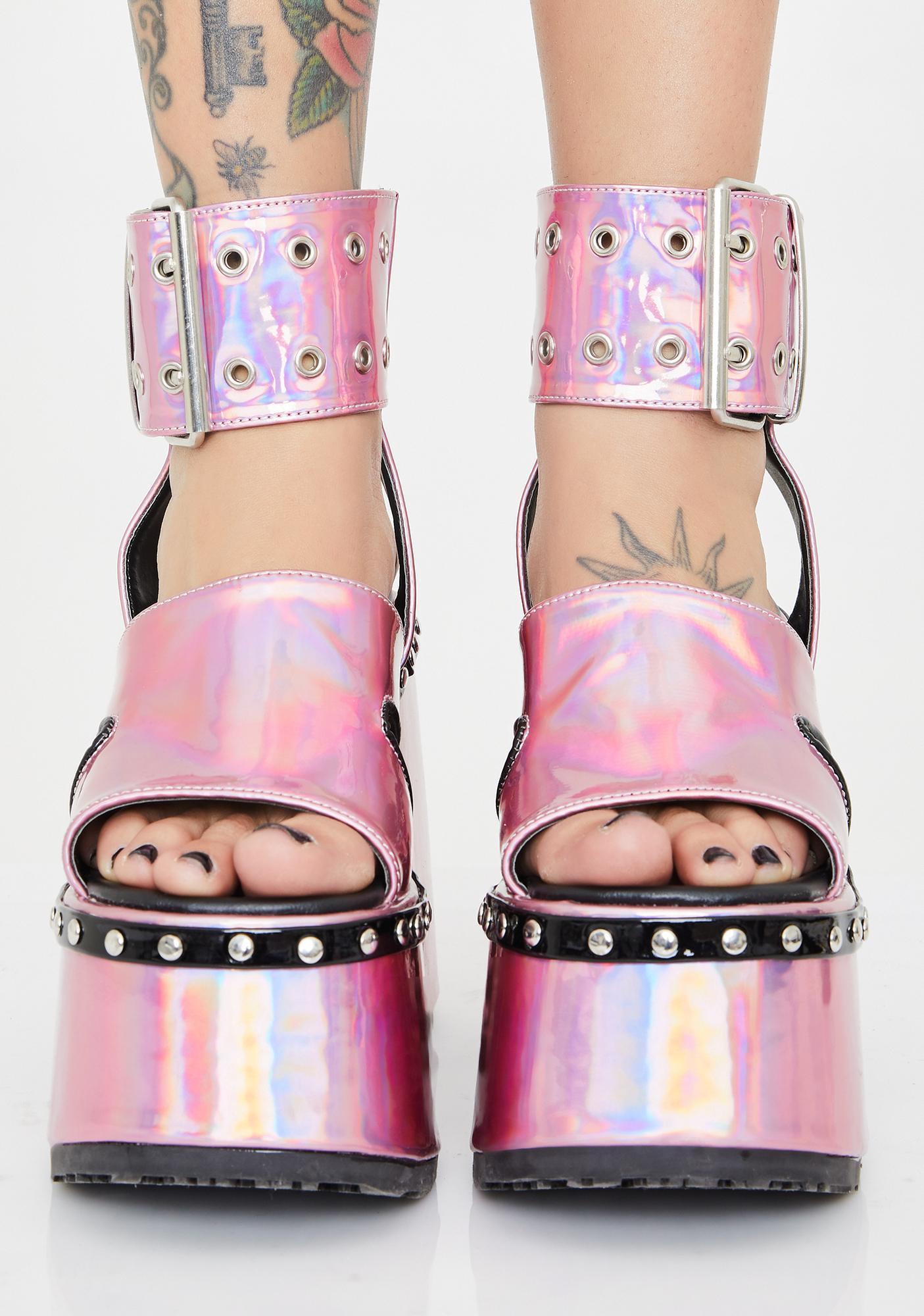 Demonia Pixie Soul Crushin' Platform Heels