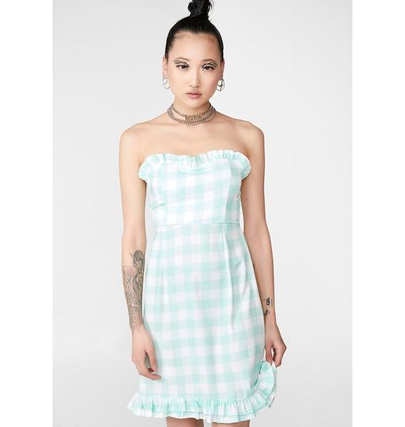 NEW GIRL ORDER Gingham Pastel Dress