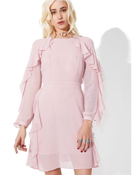 From Above Ruffled Mini Dress