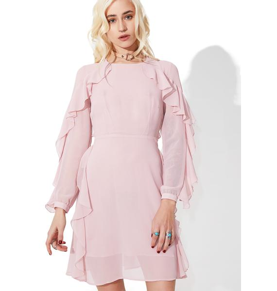 Glamorous From Above Ruffled Mini Dress
