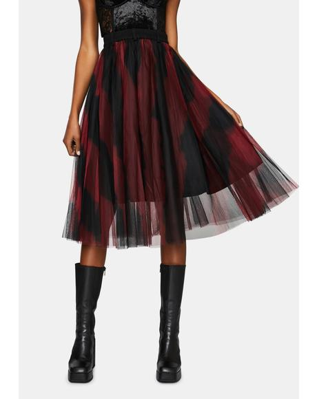 A Witches Reunion Tulle Midi Skirt