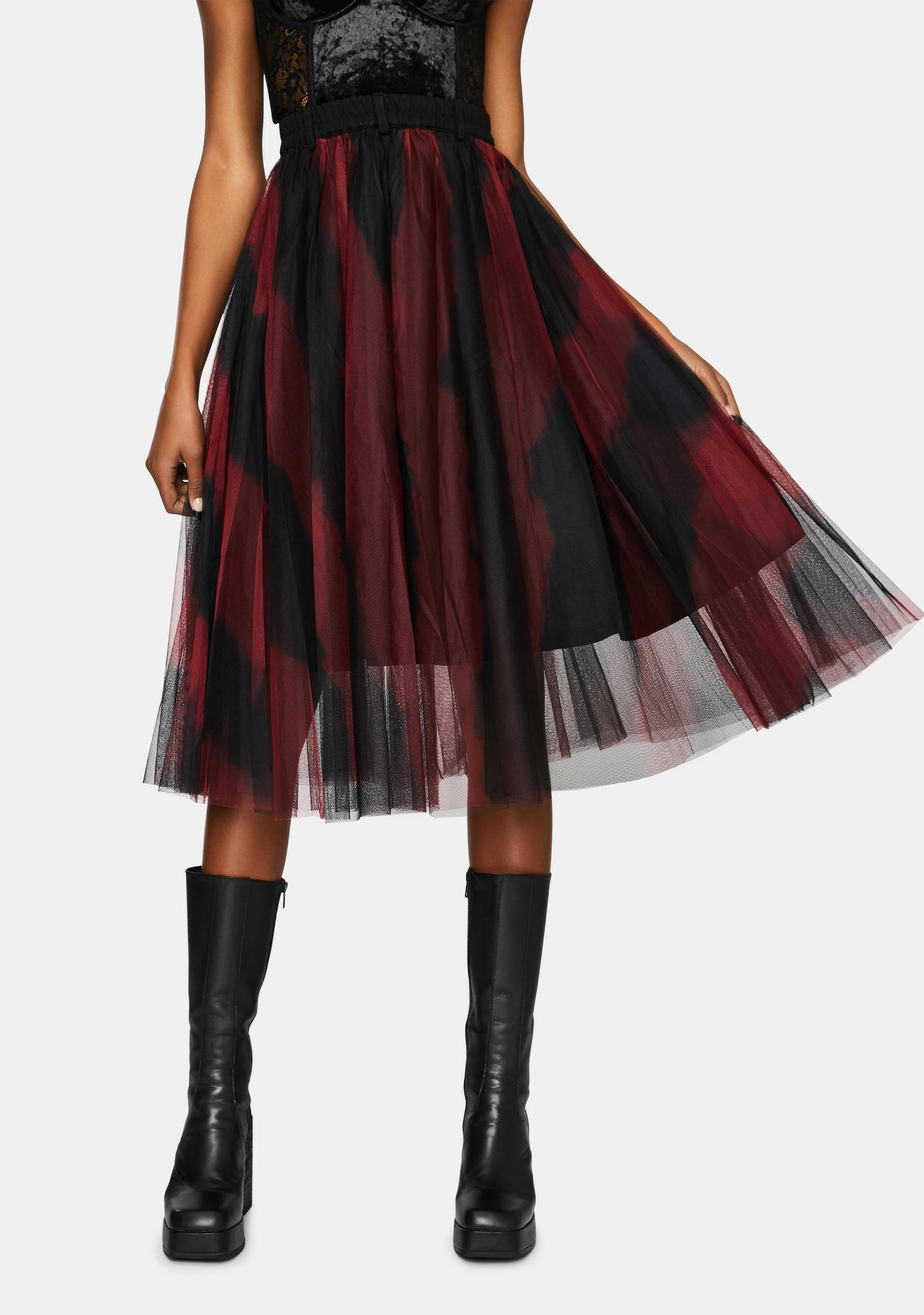 Punk Rave A Witches Reunion Tulle Midi Skirt