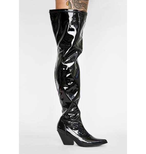 Dominatrix Babe Thigh High Boot