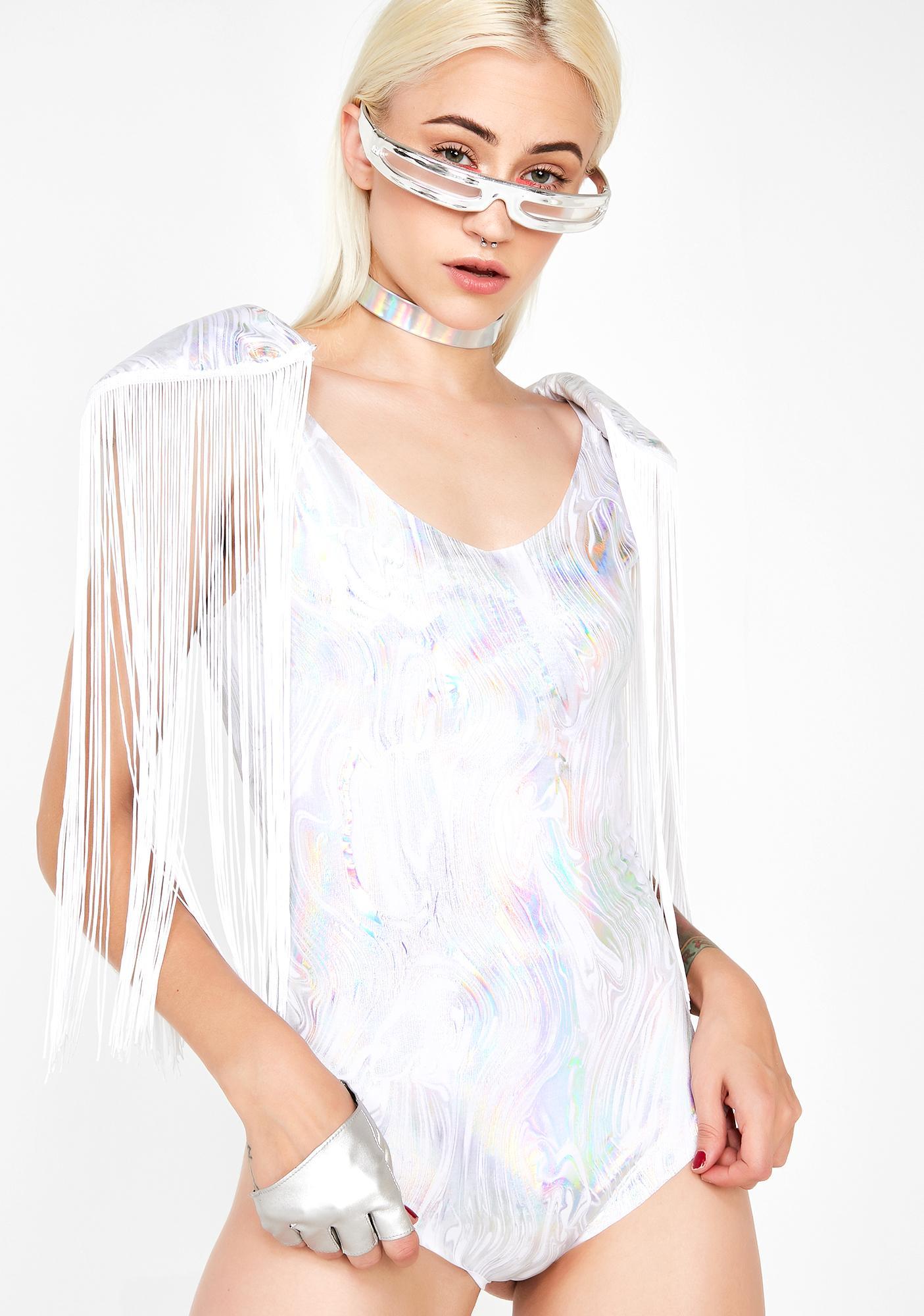 Angelic Aura Fringe Bodysuit