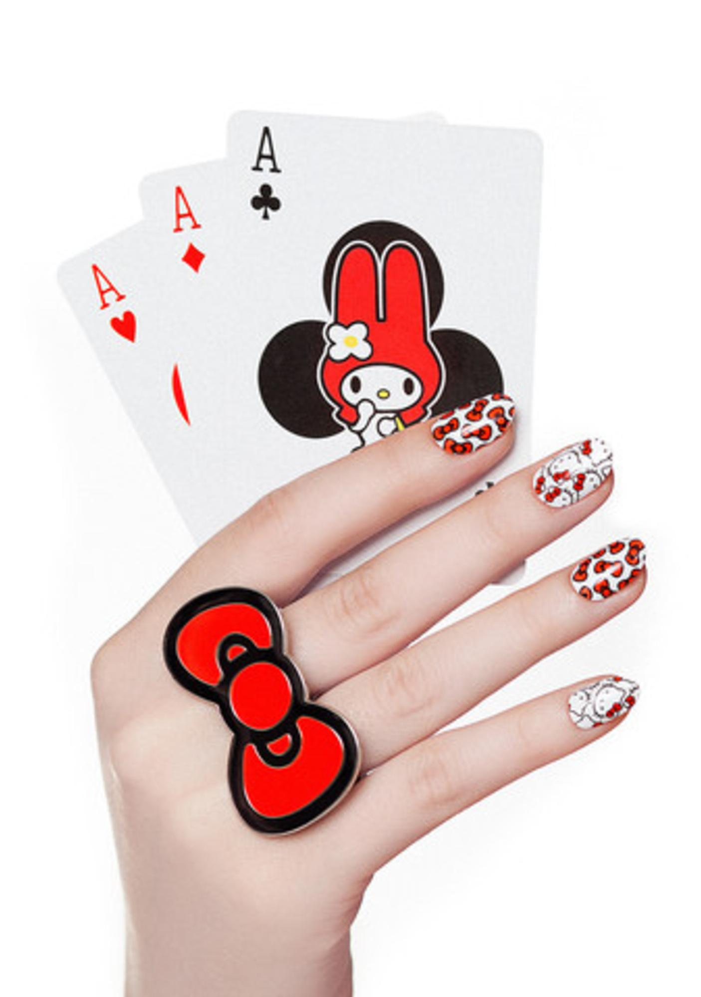 07710d18e NCLA Hello Kitty Bows Nail Wraps | Dolls Kill