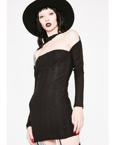 Take It Or Leave It Textured Dress