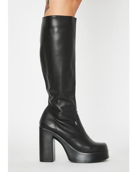 Nebraska Knee High Boots