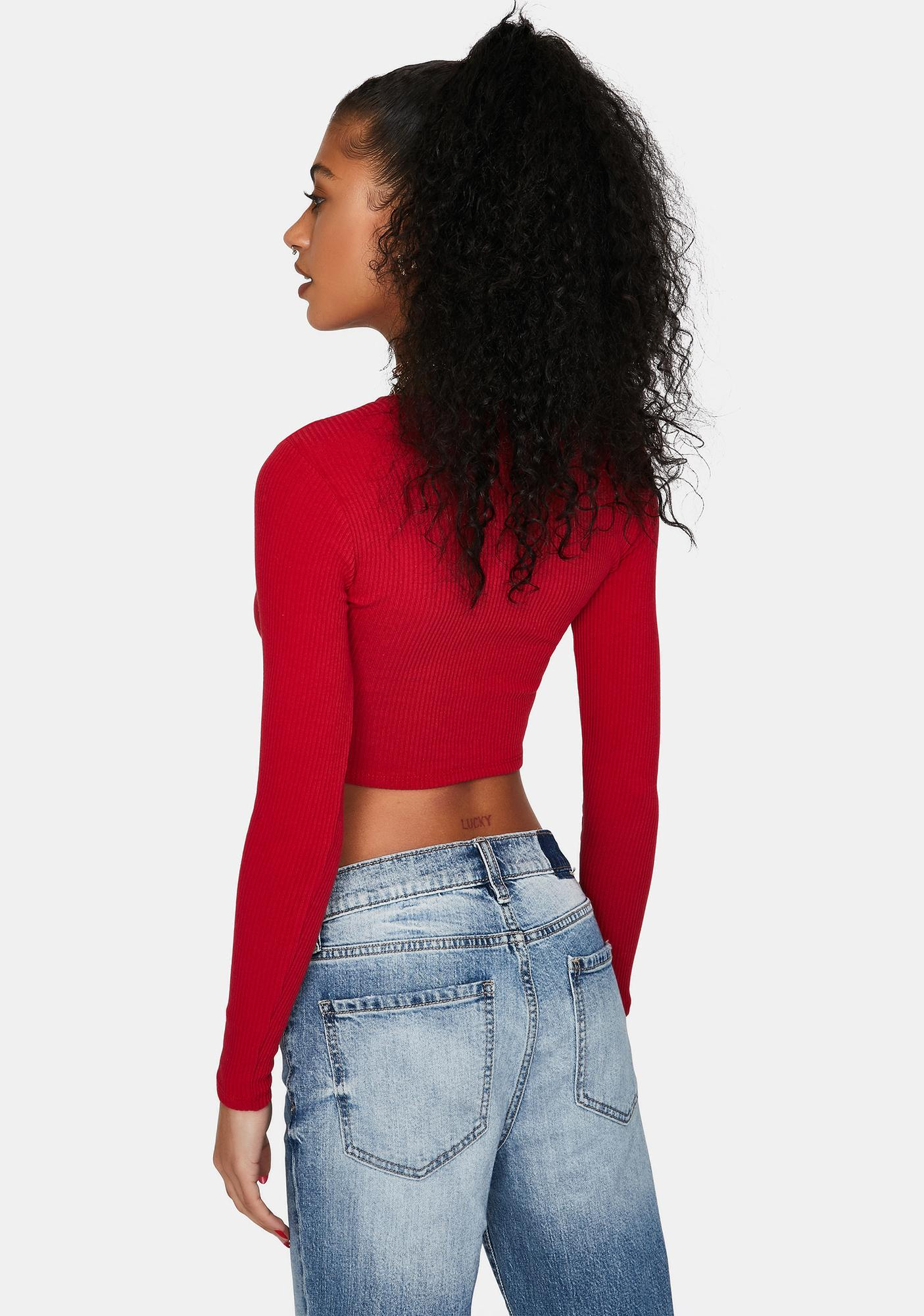 Love Off The Scene Ribbed Crop Top