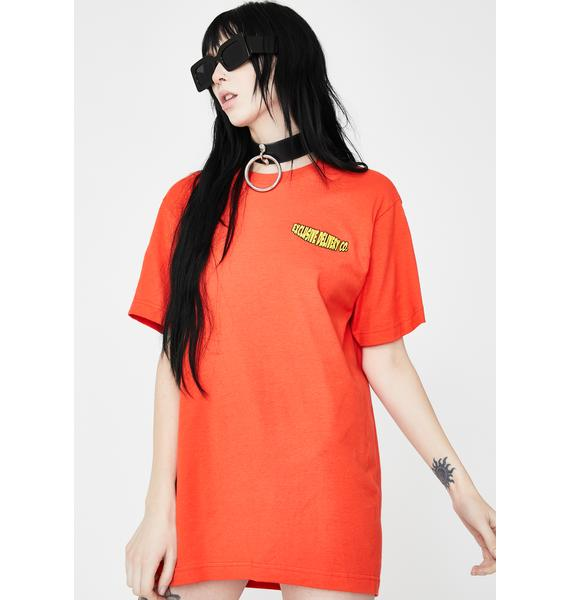 EXCLUSIVE DELIVERY CO. Orange Two Please Graphic Tee
